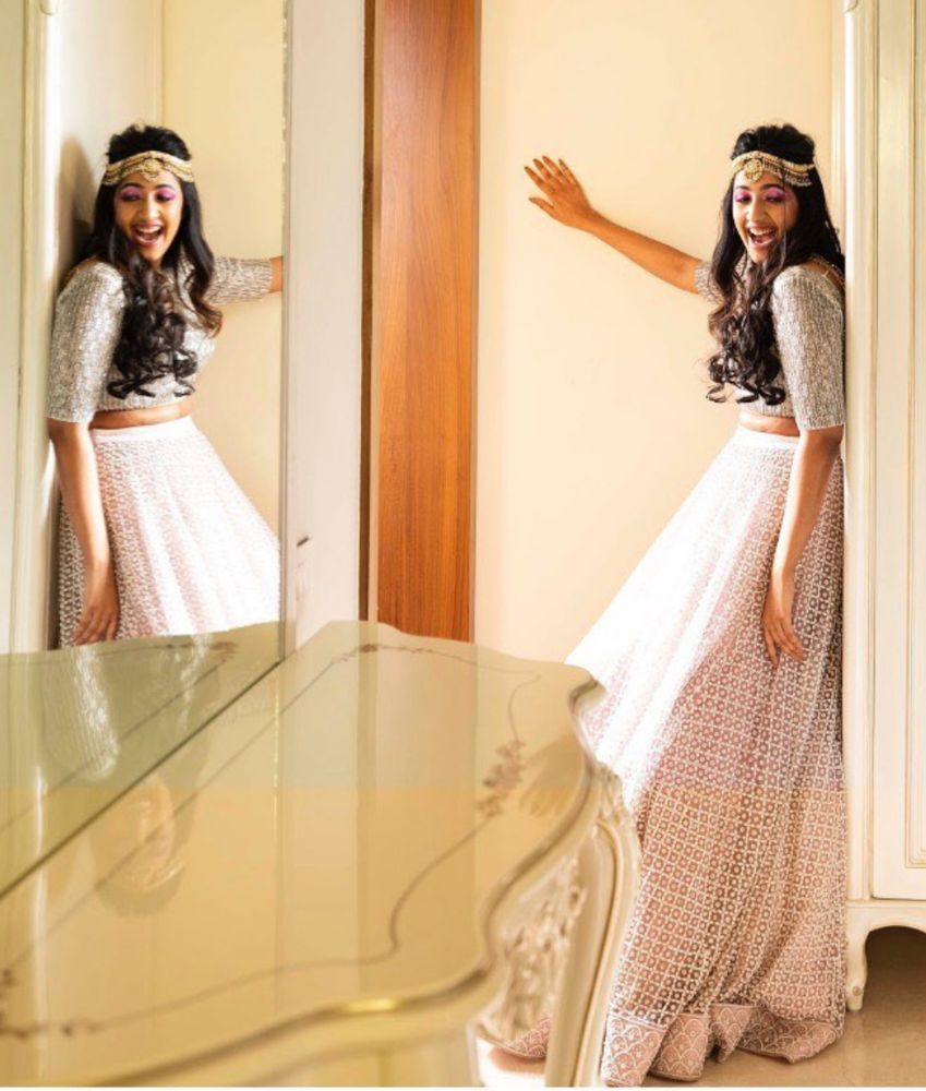 niharika konidela in a pink and silver lehenga for you and i magazine shoot (3)