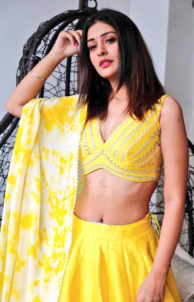 paayal rajput in yellow lehenga (3)