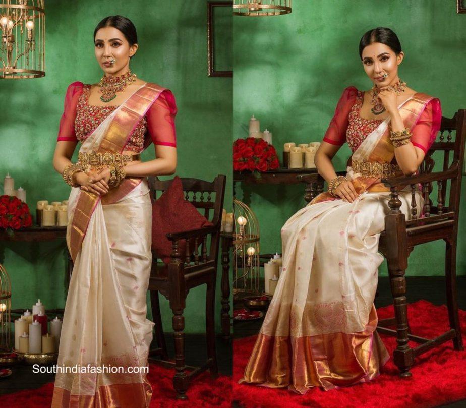 parvati-nair-in-a-kanjivaram-saree-by-muhurth