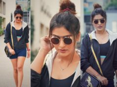 payal rajput snapped in hyderabad