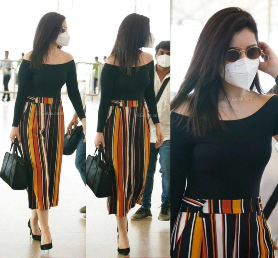 raashi khanna stylish airport look