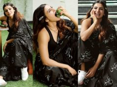 samantha akkineni black saree urlife promotions (4)