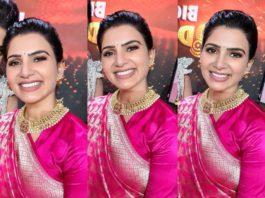 Samantha in pink saree for bb4