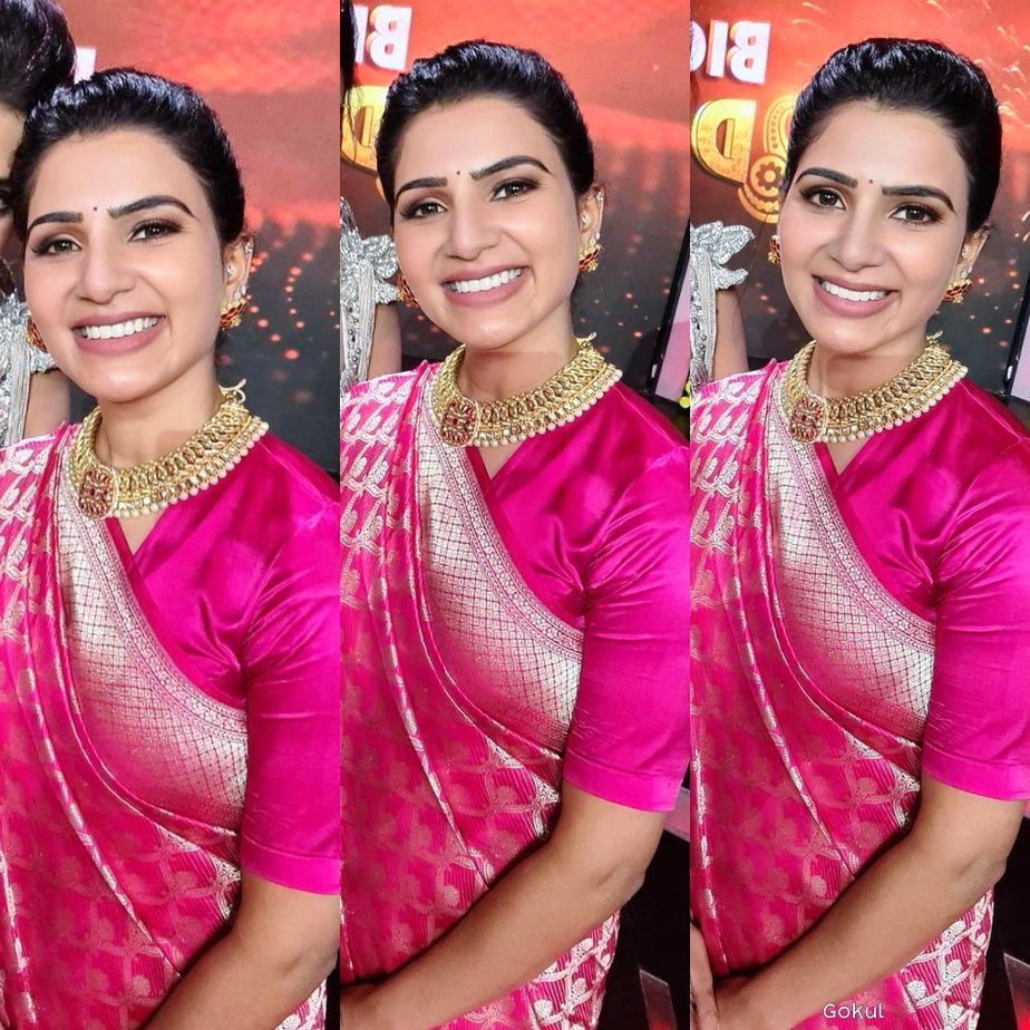 Samantha in pink saree for bb4