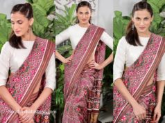 shilpa reddy in brown patan patola saree