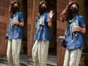 shilpa shetty's casual look in dhoti pants and short kurti