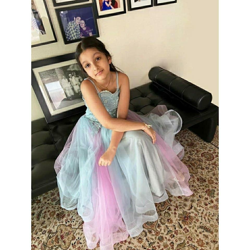 sitara in frozen dress