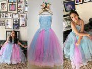Sithara in frou frou dress