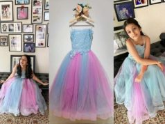 Sithara in frou frou dress