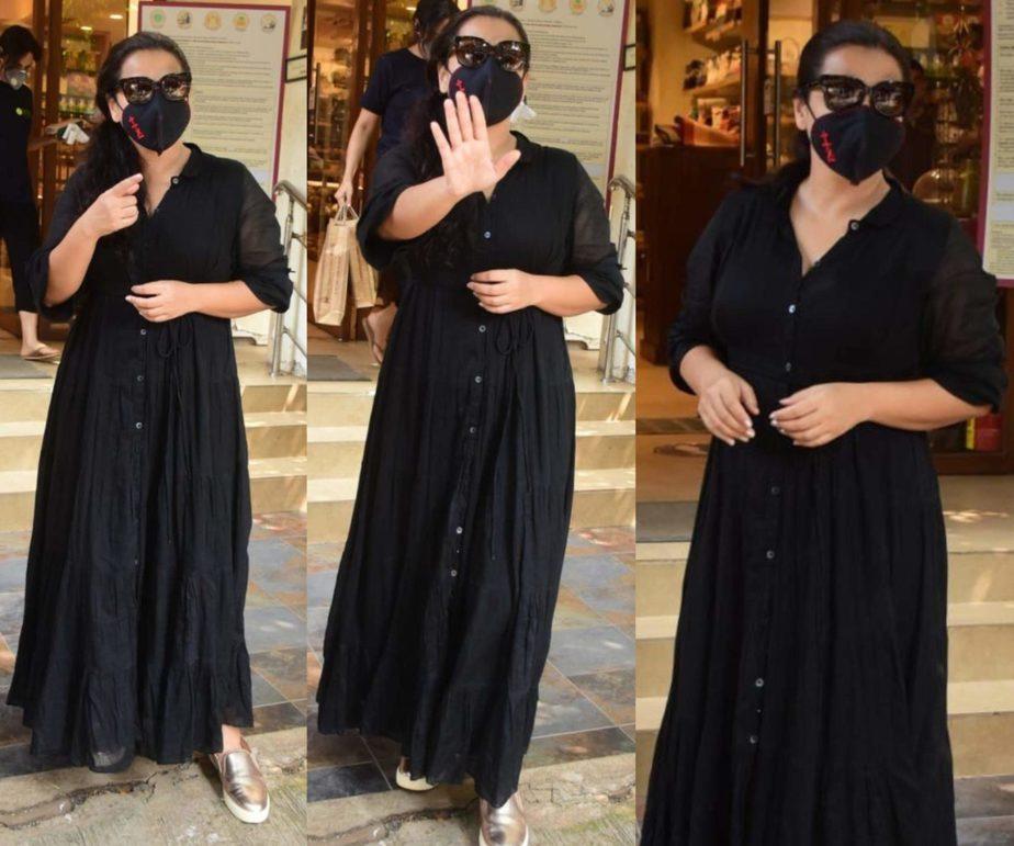 vidya balan black maxi dress