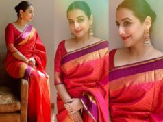 vidya balan in a red silk saree (3)