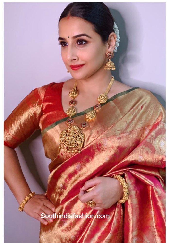 vidya balan kanjeevaram saree (2)