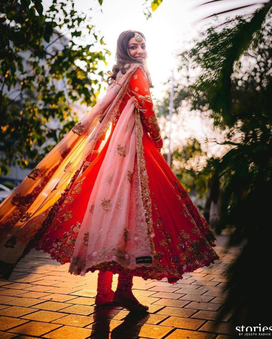 Kajal Aggarwal in Shyamal Bhumika outfit for haldi