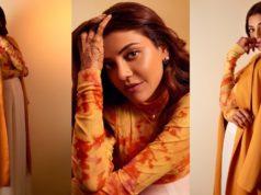 Kajal Aggarwal in modern outfit-deme top