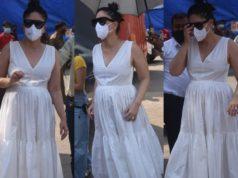 Kareena Kapoor Khan maternity fashion white maxi dress