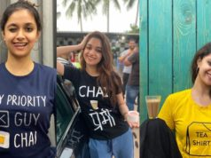 Keerthy Suresh for Miss India promotions in tea themed t-shirts
