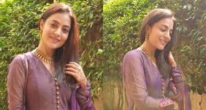 Nisha Aggarwal in chanderi anarkali
