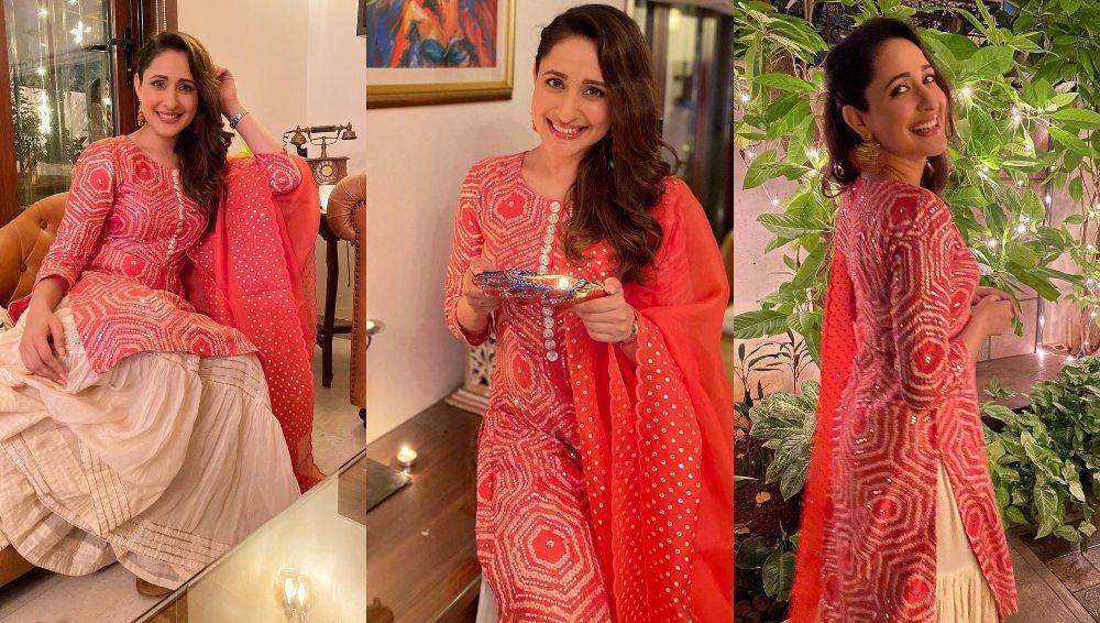 Pragya Jaiswal in sharara set for Diwali