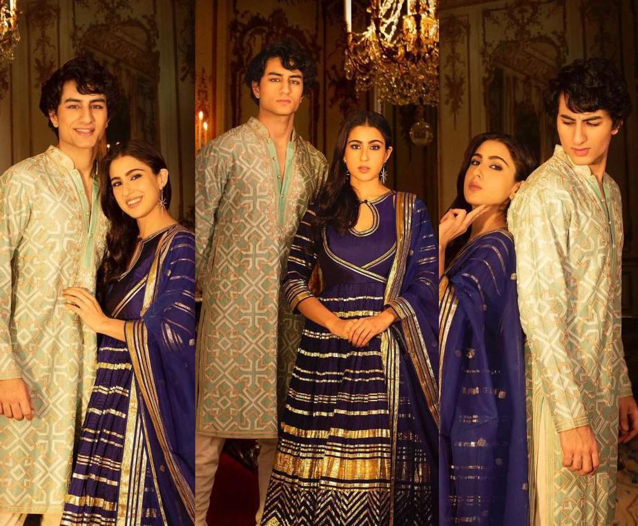 Sara Ali Khan wearing Abu Jani Sandeep Khosla for Bhaidooj