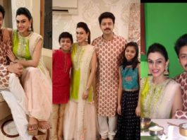 Srikanth and family in traditional attires for Diwali