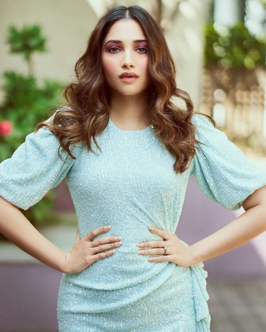 Tamannaah Bhatia at launch of her web series in sequined dress