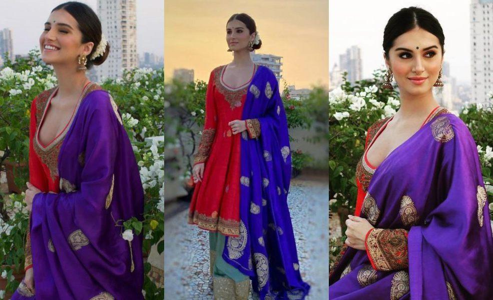 Tara Sutaria in Manish Malhotra collection for diwali 2020