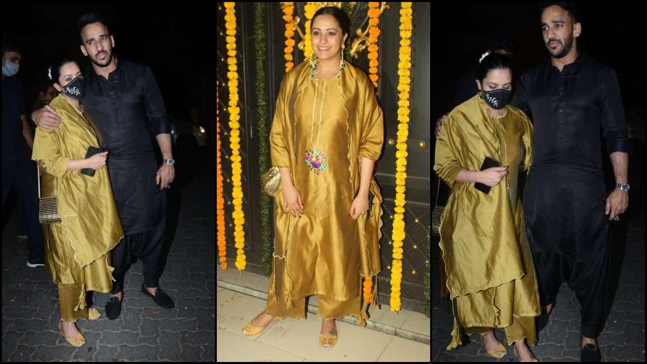 anita hassanandini with husband rohit reddy at ekta kapoor diwali bash 2020