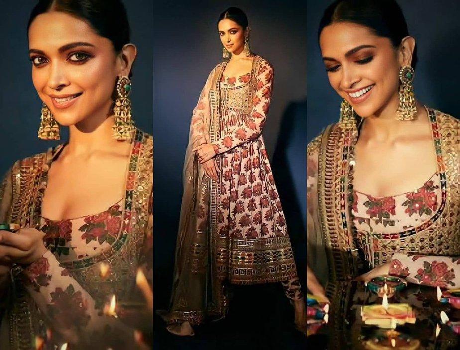 Deepika Padukone's Diwali Look in a Sabyasachi anarkali