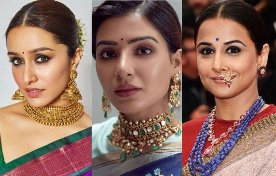 jewellery with indian ethnic wear for festivals