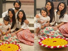 kalyaan dhev and family in ethnic wear for diwali