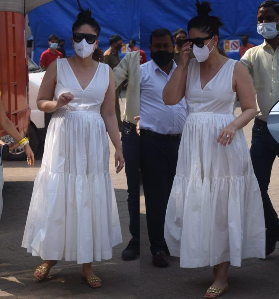 kareena kapoor in white dress maternity