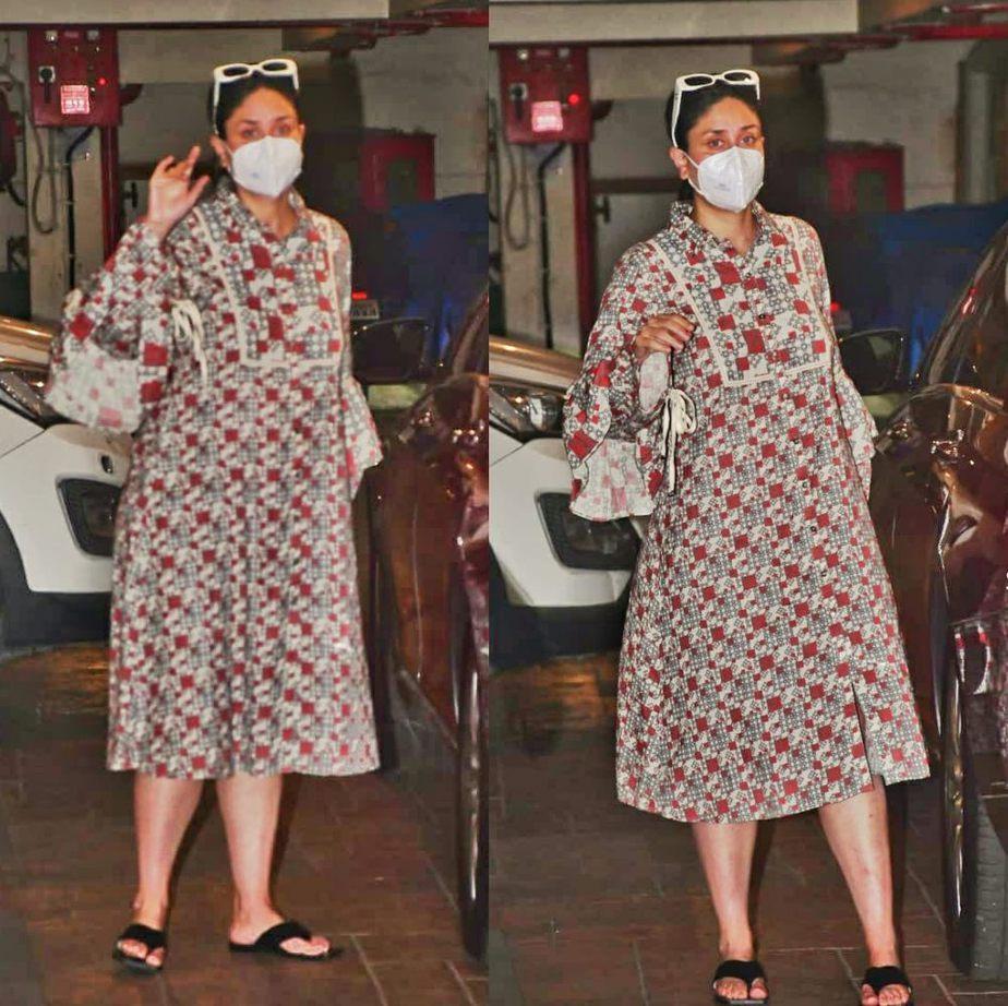 kareena kapoor maternity fashion printed dress