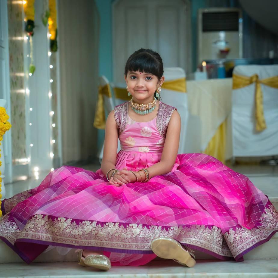 lakshmi manchu daughter pink lehenga