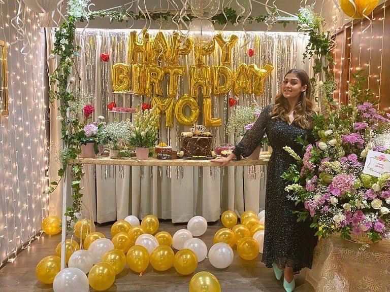 nayanthara celebrating 36th birthday
