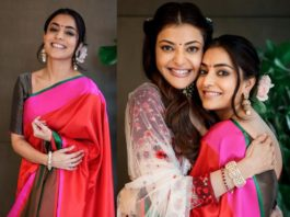 nisha aggarwal in raw mango saree
