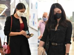 rashmika mandanna airport black outfit (1)