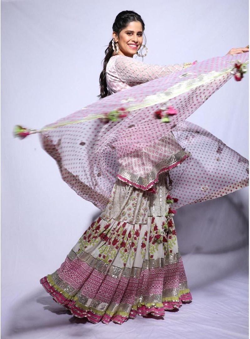 sai tamhankar in pink kurta set by maahera jaipur 1