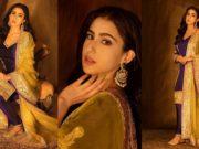 sara ali khan in manish malhotra for diwali