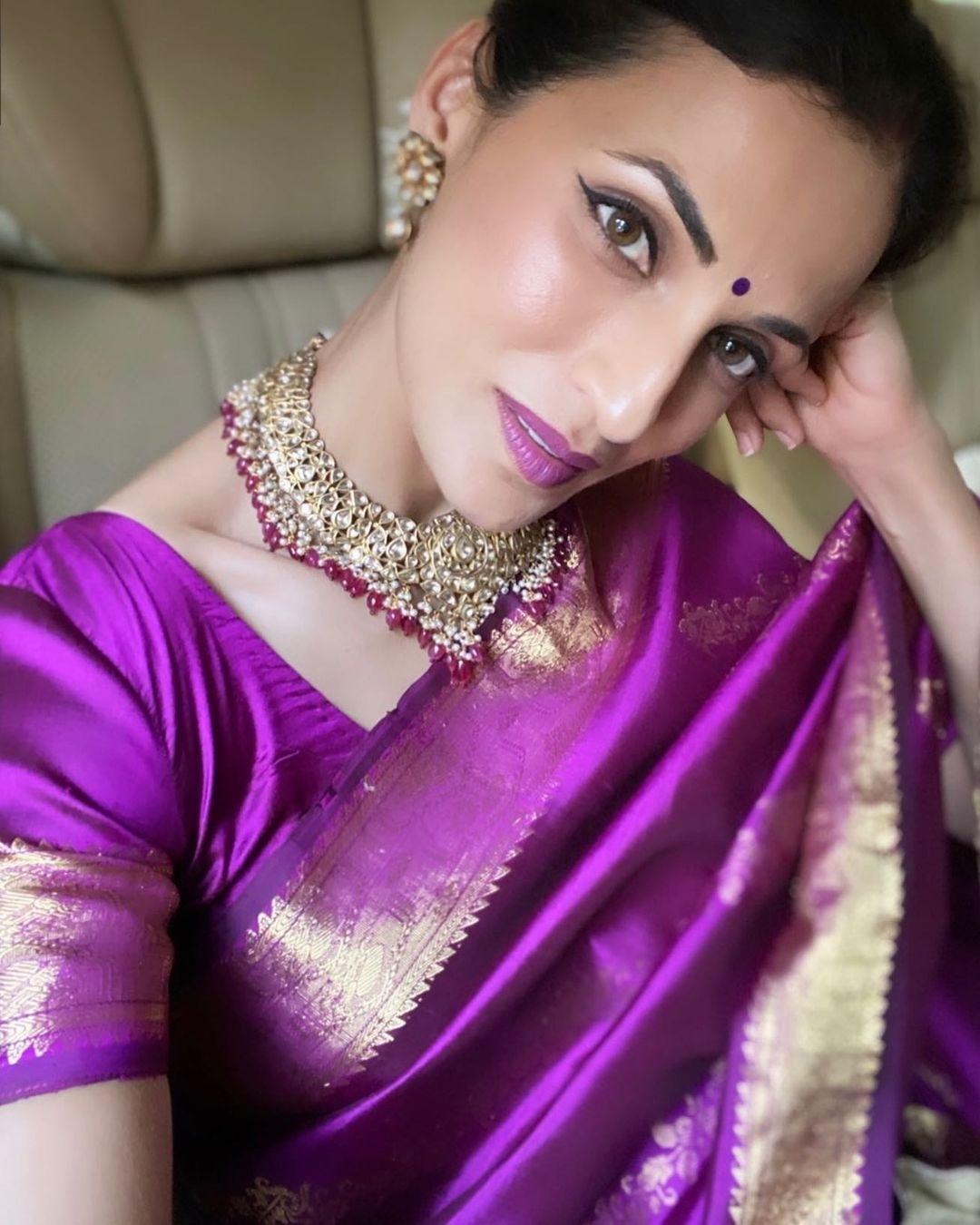 shilpa reddy in 19 year old bridal saree