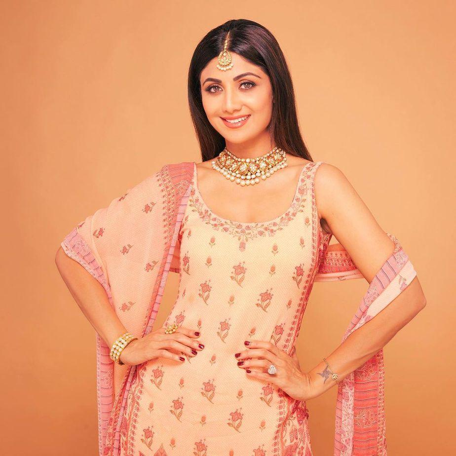 Shilpa Shetty Kundra in Anita Dongre Sharara set