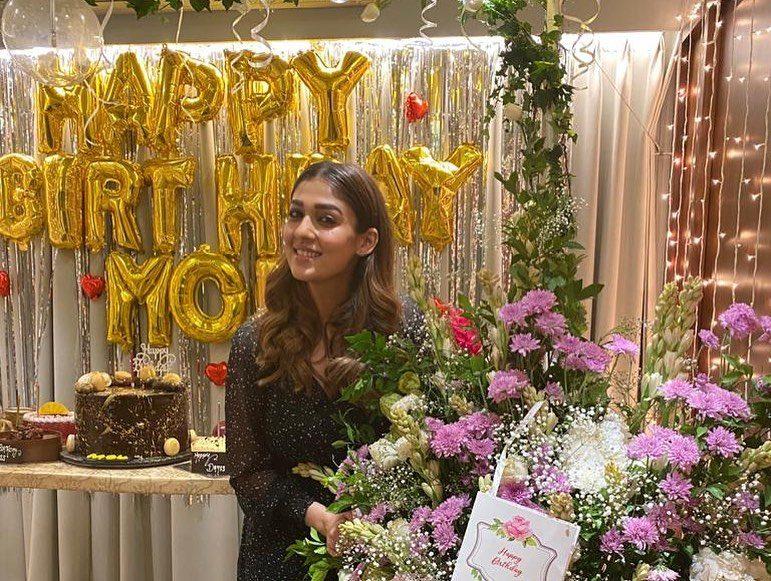 south india actress nayanthara 36th birthday celebration