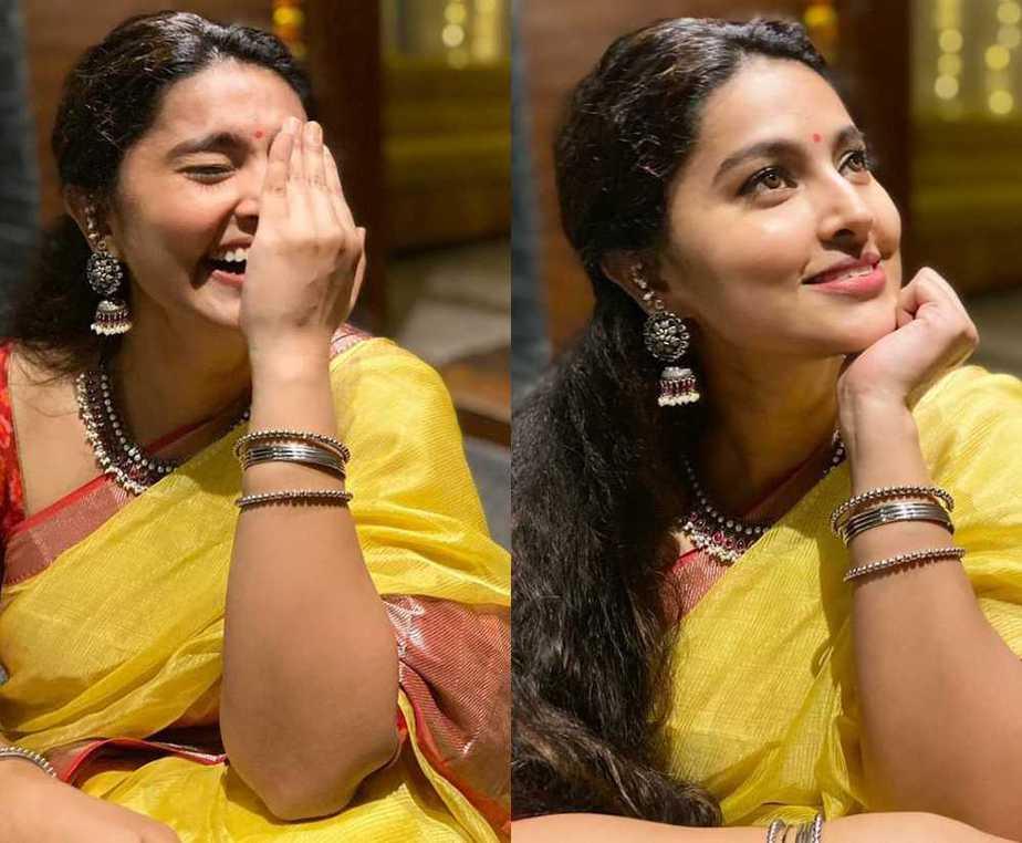 south indian actress sneha karthigai deepam