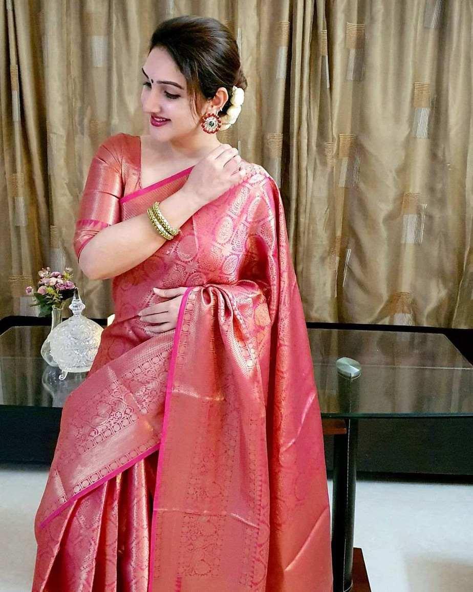 sridevi vijaykumar dhanteras 2020 pink kanchipuram saree