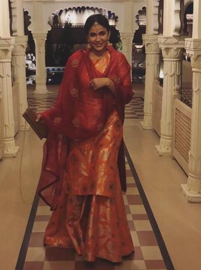 Lavanya Tripathi in Raw mango kurta set for nishchay mehndi