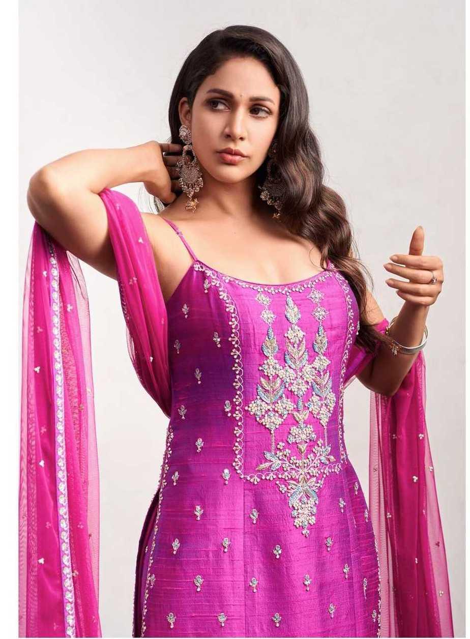 Lavanya Tripathi in violet anita dongre set1
