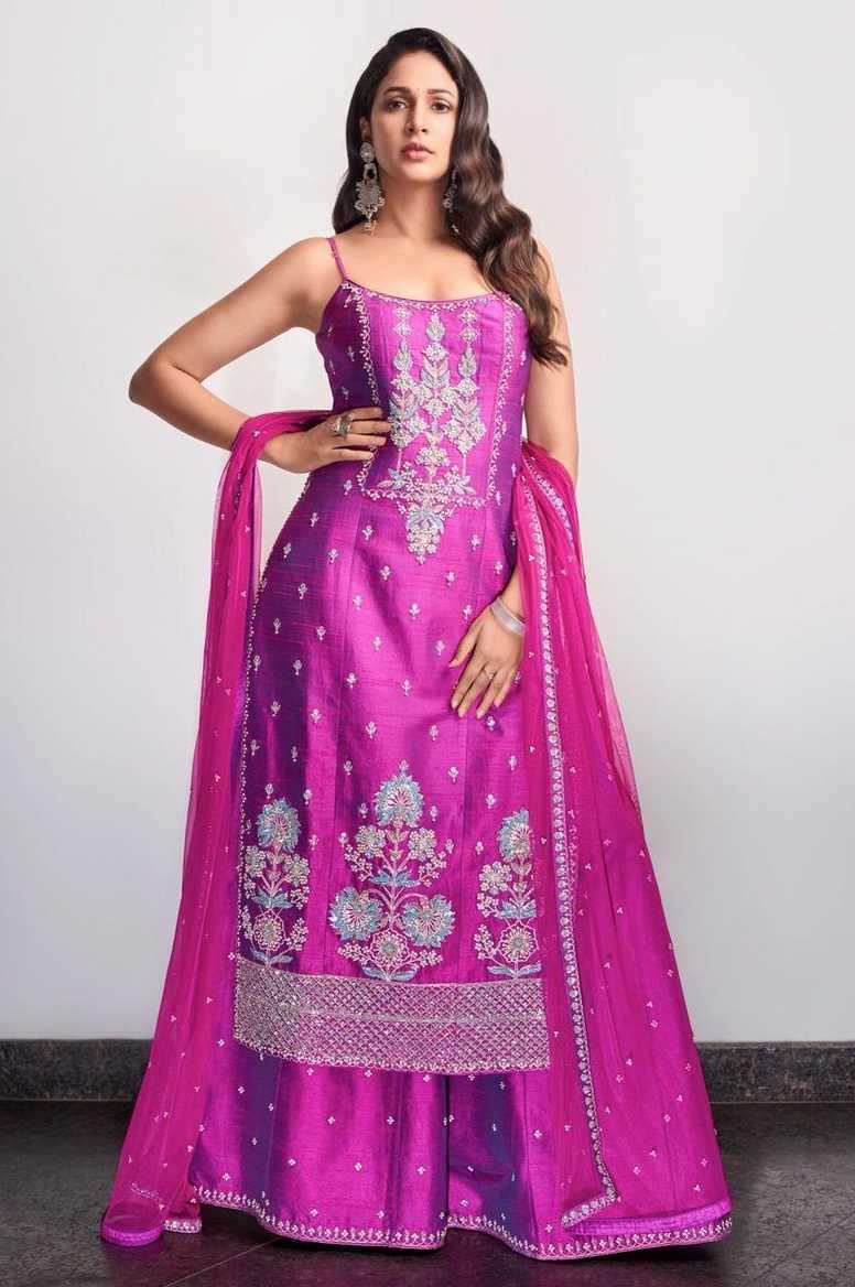 Lavanya Tripathi in violet anita dongre set2