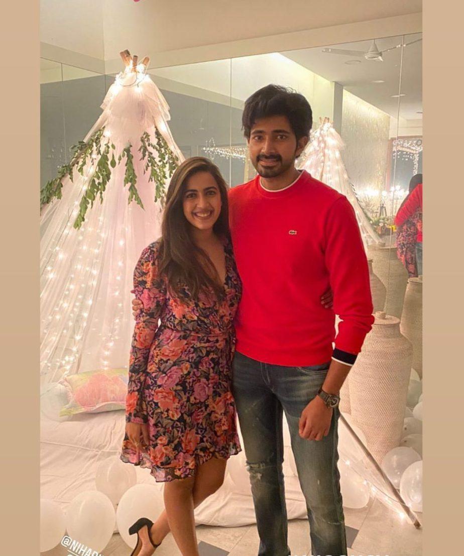 Niharika Konidela bridal shower with Chaitanya JV