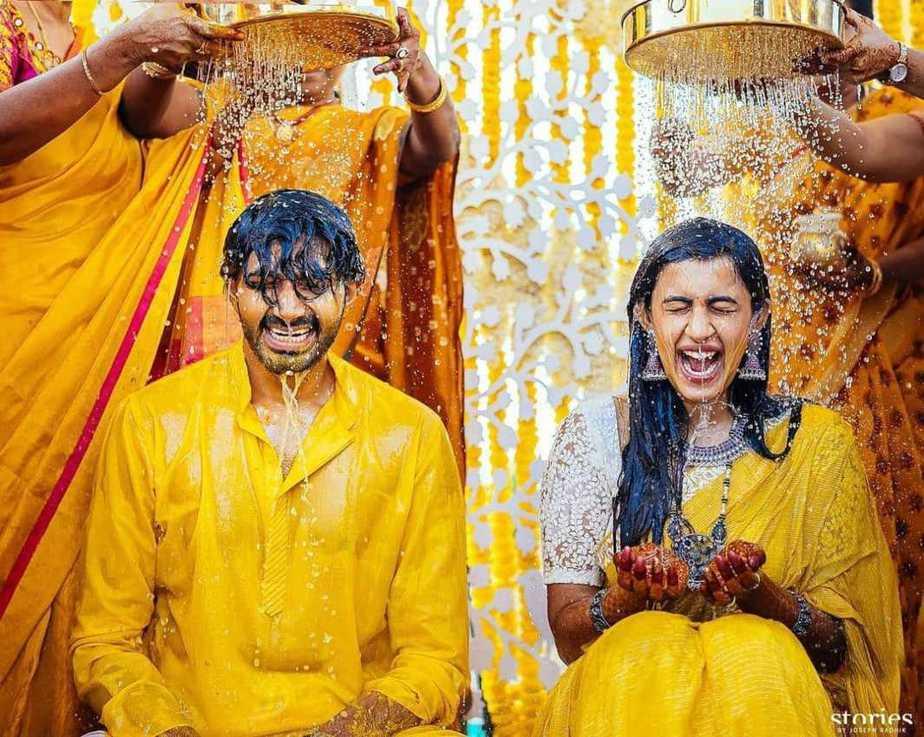 Niharika and Chaitanya haldi ceremony1.1