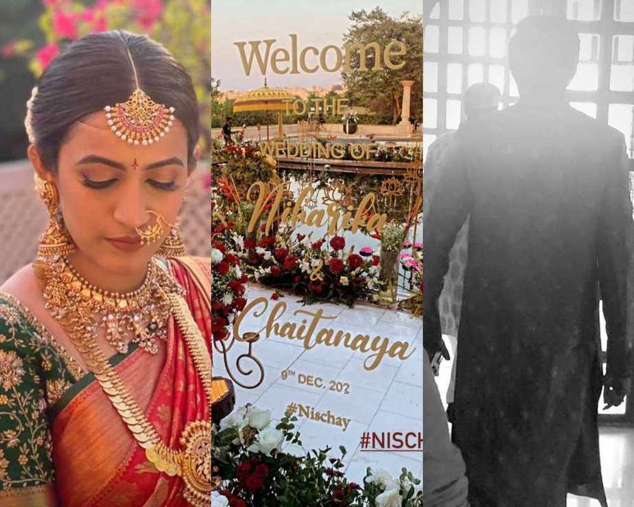 Niharika and Chaitanya wedding look1