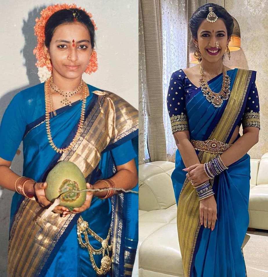 Niharika konidela in mother's saree for second look at pellikuturu1.8